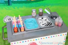 DIY American Girl Ice Cream Cart