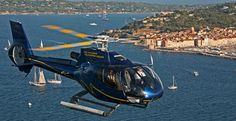 Helicopter transfer from Saint Tropez