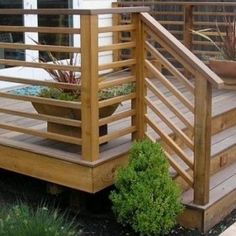 Backyard wood decks are one of the greatest backyard landscaping ideas. Having your own backyard wood deck is one of the … Horizontal Deck Railing, Wood Deck Railing, Deck Railing Design, Deck Railing Ideas Diy, Front Porch Railings, Deck Stairs, House Stairs, Backyard Patio, Patio Decks