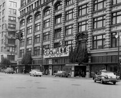 Crowley's Downtown Detroit department store 1960 - In winter on first day of good snowfall Mom and I took the bus down town for shopping at Hudsons , Crowley's , Woolworth's I think , and a few other stores. It was so beautiful in the snow. We purchased one Christmas ornament on every trip.