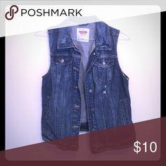 Blue jean vest. A blue jean vest.  Worn once or twice, great condition. Jackets & Coats Vests