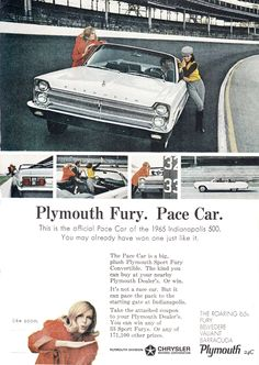 1965 Plymouth Fury Indy Pace Car.