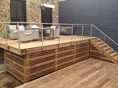 Deck Skirting Ideas - Surf images of Deck Skirting. Locate ideas as well as ideas for Deck Skirting to add to your very own house. Wooden Terrace, Wooden Decks, Deck Skirting, Under Decks, Porch Steps, Deck Decorating, Diy Deck, Deck Railings, Up House
