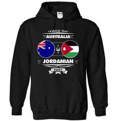Made in Australia with JORDANIAN part - T-Shirt, Hoodie, Sweatshirt