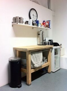 Kitchenette--not the prettiest setup, but something similar for our basement for guests
