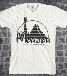 Lord of the Rings Inspired  lotr AMERICAN APPaREL shirt Mordor Parody Sizes S M L XL - Fathers Day ones does not simply walk in quote on Etsy, $22.00