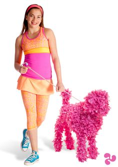 taking a very stylish walk. Pink Dog, Activewear, Peplum Dress, Cute Outfits, Take That, Colours, Stylish, Fabric, Clothes