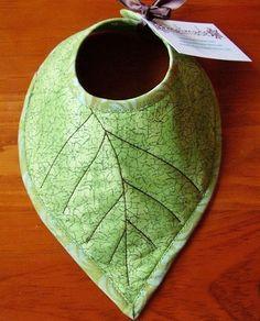 Love this diy baby leaf bib