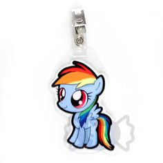 Rainbow Dash Chibi Badge. $3.00, via Etsy.