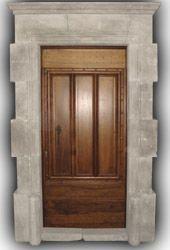Porte d 39 entr e massif style jurassien fait sur mesure en - Porte d entree en bois massif moderne ...