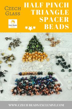 Czech Glass Half Pinch Triangle Spacer Beads  21 New Colors! - Buy now with discount!  Hurry up - sold out very fast! www.CzechBeadsExclusive.com/+half+pinch SAVE them! ??Lowest price from manufacturer! Get free gift! 1 shipping costs - unlimited order quantity!  Worldwide super fast ?? shipping with tracking number! Get high wholesale discounts! Sold with  at http://www.CzechBeadsExclusive.com #CzechBeadsExclusive #czechbeads #bead #beaded #beading #beadedjewelry #handmade #etsy #dawanda…