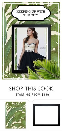 """""""2015 Black Sherri Hill 1929 Sweetheart Cocktail Dress"""" by chrissybarby ❤ liked on Polyvore featuring Versace and Sherri Hill"""