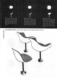 Silhouettes of 1966 Herman Miller Eames chairs #shellspotting #eames @hermanmiller