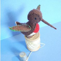 NEW DESIGN Tiny humming bird by BlossomHill on Etsy