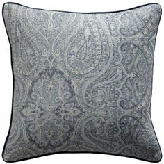 de Le Cuona Watercolour Paisley Cushion Cover 45x45cm with Piping - Puddle