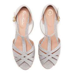 f29e35dc39e32f Shila Vegan Silver Bridal Vintage Inspired Kitten Heel