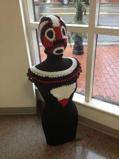 crochet art - 3d sculpture by Teen Crochet Artist Ikea Vandross