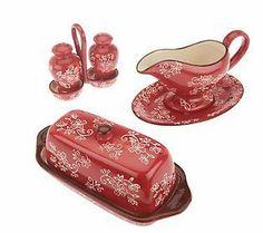 Temp-tations Floral Lace 7-Piece Table accessory set