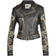 Fausto Puglisi Leather Jacket - All About Couture Coats, Spring Jackets, Celebrity Outfits, Mode Style, Fashion Outfits, Womens Fashion, Mantel, Jackets For Women, Padded Jacket