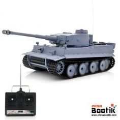 """1/16 Airsoft RC Tank """"Tiger 1"""" - Shoots BB's, Movable Barrel, Rotating Turret, Full Suspension"""