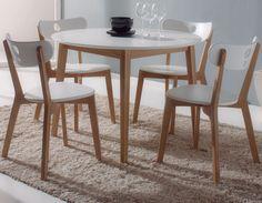 ensemble table et chaise moderne blanc en bois napa - Table Et Chaise Moderne