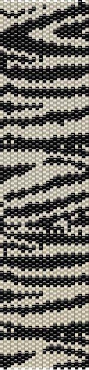 ESQUEMA MANCHETE de PERLEAQUA #zebra #bracelet #diy