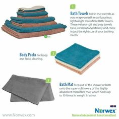 Norwex Bath Towels Norwex Bath Towel Lightweight Soft Supple And Super Absorbent