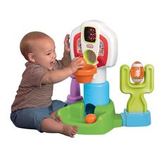 Little Tikes Discover Sounds Sports Center, Little Tikes toys are perfect for your future MVP. Featuring fun sports songs and sound effects, this Sports Center introduces little ones to baseball, basketball and football. Kids will shoot . Toddler Boy Toys, Toys For Boys, Baby Toys, Kids Toys, Baby Baby, Baby Girls, Baby Learning Toys, Learning Toys For Toddlers, Toddler Learning