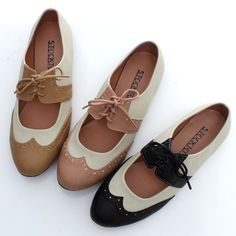 BN Womens Shoes Classics Dress Lace Ups Low Heels Oxfords Flats Pink Brown Black | eBay