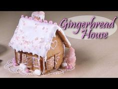 Easy Miniature Gingerbread House - Polymer Clay Tutorial - YouTube