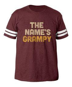 Burgundy 'The Name's Grampy' Football Tee - Men's Regular