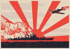 During World War II, the Japanese used the battle tactic known as kamikaze. The pilots were known as suicide bombers. If their plane was shot down they would attempt to crash and destroy the enemy before dying. Kamikaze Pilots, Ww2 Propaganda Posters, Airplane Art, Japanese Poster, Japan Art, Military Art, World War Ii, Art Images, Vector Art