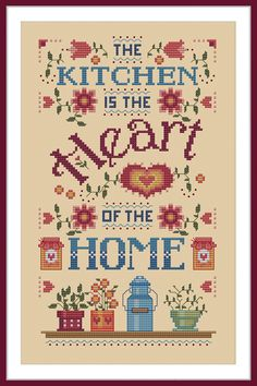 Stitches For All Seasons in New Hampshire provides cross-stitch designs and needlework crafts to suit the seasons, the holidays, and special occasions. Tiny Cross Stitch, Free Cross Stitch Charts, Cross Stitch Boards, Cross Stitch Kitchen, Cross Stitch Bookmarks, Simple Cross Stitch, Cross Stitch Samplers, Cross Stitching, Cross Stitch Embroidery