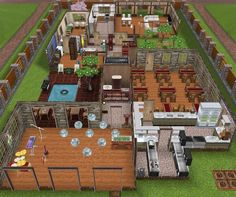Sims peaches and in this house on pinterest for Casa de diseno the sims freeplay