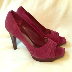 NEW! Jessica Simpson Heels Jessica Simpson Cabernet colored Suede heels with approximately 3/4 inch platform and 3.5 inch heels. Never worn. Jessica Simpson Shoes Heels