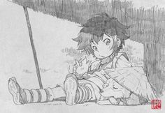 Kotarou, Stanger: Mukou Hadan (Sword of the Stranger), Art by Saito Tsunenori (Character Design and Animation Director, Studio Bones) Manga Drawing, Manga Art, Sword Of The Stranger, Wie Zeichnet Man Manga, Cool Sketches, Fantastic Art, Anime, Character Drawing, Illustrations Posters