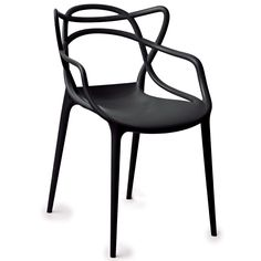 Gold Sparrow Gabriel Black Stackable Accent Chair (Set of 2) (Polypropylene)