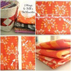 fat quarter folding- 2 different ways, patchwork posse