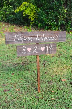 Rustic Wooden Wedding Signs Set of 2 - Two Tier Set - (WD-31)