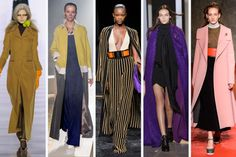 Fall 2015 Trends: DUSTERS - From left to right: Maison Margiela, Undercover, Balmain, John Galliano and Marni.