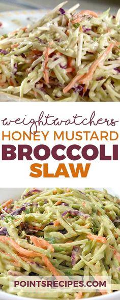 Super Low Calorie Honey Mustard Broccoli Slaw (Weight Watchers SmartPoints)