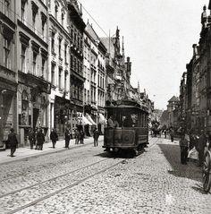 Königsberg. Tram at the Knajphofskoj long.  Photo OK. 1906 year