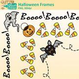 Halloween Clip Art Frames {Bat, Pumpkin, & Ghost Borders for Classroom Resource}