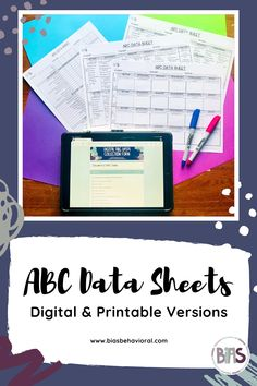 Are you looking for a digital ABC data collection option, or maybe you just want to improve on your current ABC Data collection methods? If so, grab these easy to use data sheets!