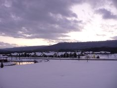 End of snowy day in Huntsville, AL....1-11-11