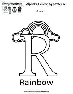 Kindergarten Letter R Coloring Worksheet Printable, great website