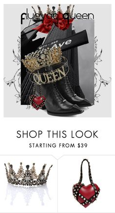 """""""Fluevog Queen"""" by tattered-rose ❤ liked on Polyvore featuring Elie Tahari, John Fluevog, Valentino and TIARA"""