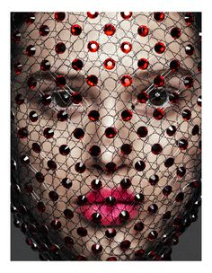 """Anais Pouliot by Greg Kadel for """"The New Couture"""" in the May 2011 issue of Vogue Germany. #screen #veil"""