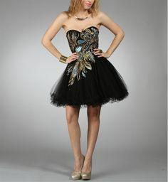 little black prom dress