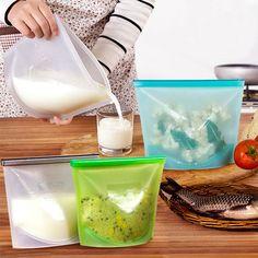 Set of 2 Reusable Food Storage Bags